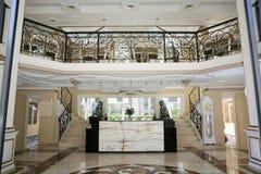 Luxury hotel interior. Luxury hotel reception hall interior stock images