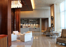 Luxury hotel interiors. No logos or trademarks royalty free stock photography
