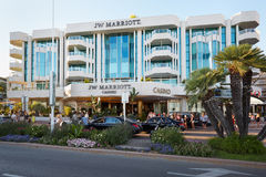 Luxury hotel JW Marriott in summer in Cannes Stock Images