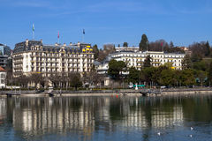 Luxury hotel, Lausanne Stock Image