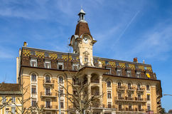 Luxury hotel, Lausanne Stock Photography