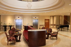 Luxury hotel lobby Stock Images