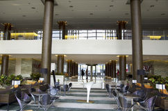 Luxury hotel lobby and bar stock images