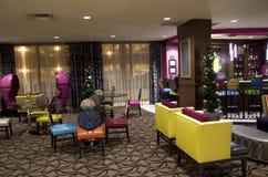 Luxury hotel lobby bar Stock Photo