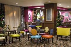 Luxury hotel lobby bar Stock Image