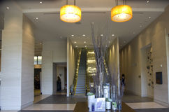 Luxury hotel lobby front lighting Stock Images