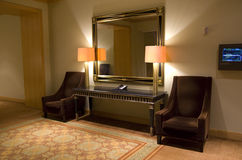 Luxury hotel lobby Stock Photo