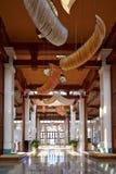 Luxury hotel lobby hall stock images
