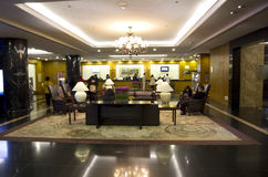 Luxury hotel lobby interiors Stock Photography
