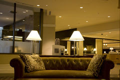 Luxury hotel lobby. Hotel lobby with nice furniture Stock Photography
