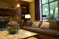 Luxury hotel lobby. Hotel lobby with nice furniture and lighting Royalty Free Stock Images