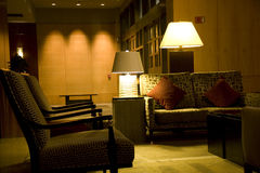Luxury hotel lobby. With nice furniture and lighting Royalty Free Stock Photos