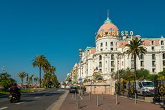 Luxury Hotel Negresco on English Promenade Stock Photography