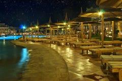 Luxury hotel at night Stock Image