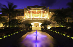 Luxury hotel. A luxury hotel at night Royalty Free Stock Photo