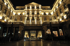 Luxury hotel in night. Steigenberger hotel Royalty Free Stock Photos