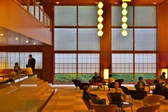 The luxury Hotel Okura in Tokyo, Japan Royalty Free Stock Photography