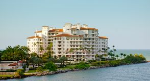 Luxury Hotel On South Beach Stock Photography