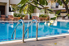Luxury hotel pool, Royalty Free Stock Photo