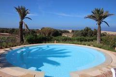 Luxury Hotel Pool Royalty Free Stock Photography