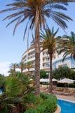 Luxury hotel with pool stock photo