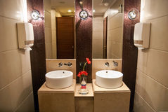 Luxury hotel public toilet Royalty Free Stock Images