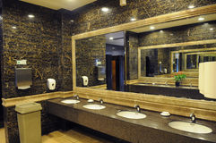 Luxury hotel public toilet Royalty Free Stock Photos