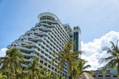 Hua Hin Hotel. A luxury hotel resort on the coast of Thailand at Hua Hin stock photo