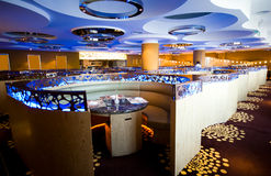 Luxury hotel restaurant Royalty Free Stock Images