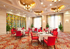 Luxury hotel restaurant interior Royalty Free Stock Photography