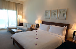 Luxury hotel room Royalty Free Stock Photos