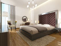 A luxury hotel room in art Deco. Vector Illustration
