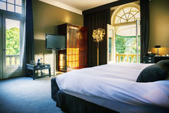 Luxury hotel  room. Luxury bed room in hotel Stock Images