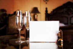 Luxury hotel room. Blank card Royalty Free Stock Photo