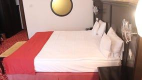 Luxury hotel room interior stock video