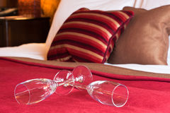 Luxury Hotel Room Interior with champagne Stock Photography