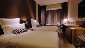 Luxury Hotel Room Interior stock footage