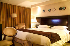 Luxury Hotel Room With King Size Bed Stock Photos