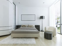 Luxury hotel room in white Stock Image