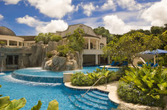 Luxury Hotel Sandy Lane, Barbados, Carribean Sea. Pool of the Resort Sandy Lane, Barbados Royalty Free Stock Photo