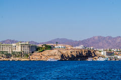 Luxury hotel on the shores of the Red Sea Royalty Free Stock Photography