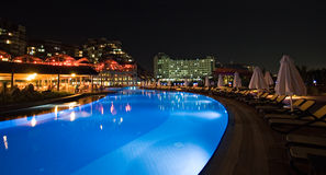 Luxury hotel swimming pool Royalty Free Stock Images