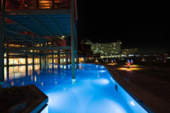 Luxury hotel swimming pool Royalty Free Stock Photo