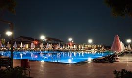 Luxury hotel swimming pool Stock Photo