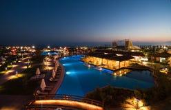 Luxury hotel swimming pool Royalty Free Stock Photo