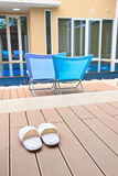 Luxury hotel swimming pool. Relax chairs luxury hotel swimming pool Stock Images