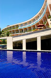 The luxury hotel with swimming pool and bar Royalty Free Stock Image