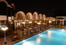 Luxury hotel and swimming pool Stock Image