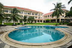 Luxury hotel with swimming pool in Nha Trang, Vietnam Royalty Free Stock Images