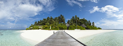 Luxury hotel in tropical island Stock Photography